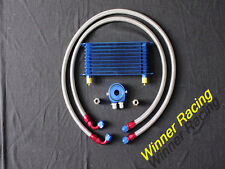 50mm 10row AN10 engine transmission universal oil cooler hose filter relocation