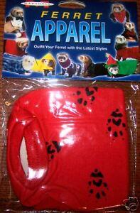 Ferret T-Shirt Red Paw Print Pattern for 3-5 Lb Ferrets