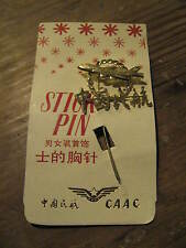 CAAC C.A.A.C. Civil Aviation Administration of China Airlines 1970's Stick Pin