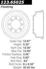 Centric Parts 123.65025 Rear Brake Drum