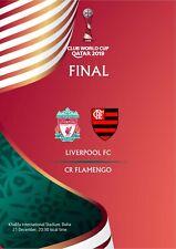 Unofficial Programme Fifa Final Club World Cup Qatar 2019 Liverpool Flamengo