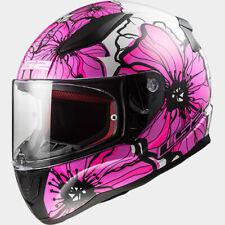 LS2 Women's Rapid Poppies Flower Full Face Street Ladies Motorcycle Helmet