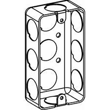 Orbit DHSSB-1-50 Single Gang Handy Box 1.25 Inch Deep 0.5 Inch KO