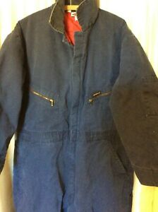 Dickies Coverall Blue Red Insulated Quilted Lining Long Sleeve 46/48 short chore