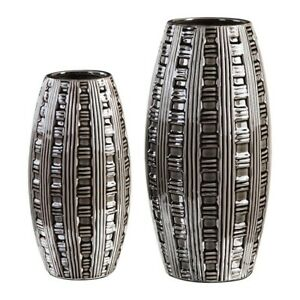 Uttermost Aura Weave Pattern Vases Set of 2 - 18711