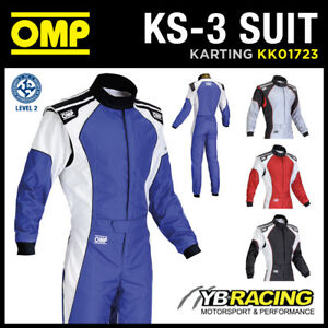 KK01723 OMP KS-3 KS3 KART RACE SUIT CIK-FIA LEVEL 2 APPROVED in 4 COLOURS!