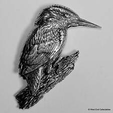 Kingfisher Pewter Pin Brooch - British Hand Crafted - Kookaburra