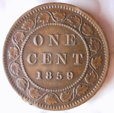 1859/8 CANADA CENT - Extremely Rare Key Coin - Great Details - FREE SHIP - HV40