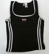 Roots Active Canada Womens Small S Black Tank Top Sleeveless exercise Yoga Shirt