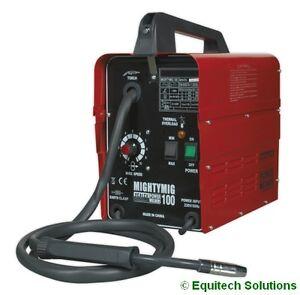 Sealey MIGHTYMIG100 100Amp No Gas / Gasless Mighty Mig Welder + Flux Wire Kit