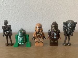 Lego Star Wars 5 Minifigure Lot: Geonosis Airborne Clone Trooper, Tarfful, SBD+