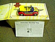 MATCHBOX BUDWEISER 1968 VOLKSWAGEN BEETLE CABRIOLET, MIB WITH COA