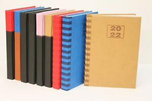 2022 LUXURY PADDED A5, A4 OR QUARTO WEEK TO VIEW OR DAY A PAGE DIARY WITH TIMES