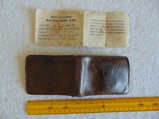 New listing Viintage Military Wallet And Ration Card