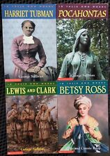 Lot of 4 In Their Own Words: Besty Ross, Pocahontas, Tubman, Lewis & Clark VGC