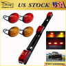 For 99-10 Ford F350 Red&Amber LED Dually Bed Side Fender Lights + ID Tail Light