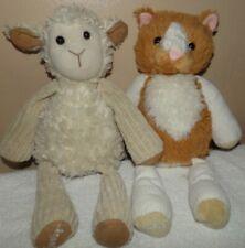 Scentsy Buddy Plush Stuffed Animal SET OF 2 Scratch the Cat & Lenny the Lamb