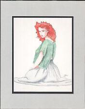 Lurene Haines SIGNED original illustration art 1980's Comic Artist Marvel/DC