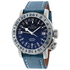 Glycine 3918.18.66.LB8B Men's Airman 18 Purist Automatic 39mm Blue Dial Watch