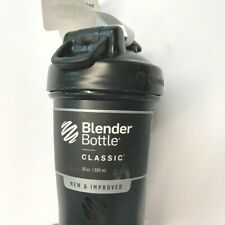 Blender Bottle Classic 20 oz. Shaker Mixer Cup with Loop Top Black NEW