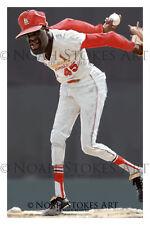 Bob Gibson St Louis Cardinals Sports Art Print by Noah Stokes