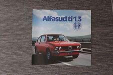 (164A) Prospectus ALFA ROMEO Alfasud ti 1.3