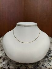 """14KT SOLID YELLOW GOLD DAINTY 16"""" CHAIN HALLMARKED 14KT ITALY 1.82 Grams"""