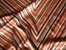 Seidensatin Seide glänzend 140 x 25 cm beige-rot-schwarz 100% Seide hochwertig