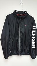 NWOT Tommy Hilfiger Windbreaker Jacket Spell Out Black...