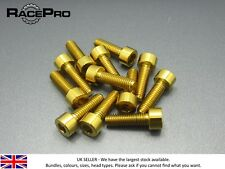 6x Titanium Tapered Bolt GR5 Natural Allen Head RacePro M5 x 18mm x .8mm