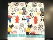 Set Of 2 Puppy Dog Poodle Bulldog Pets Home Kitchen Bathroom Hand Tea Towels