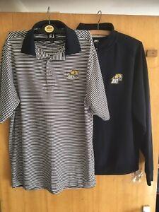 footjoy golf polo medium & 3/4 Zip Sweatshirt Both New Without Tags