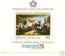 ROMANIA 1976 AMERICAN BICENTENNIAL SC # 2609 MNH