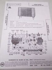 Vintage Sams Photofact Folder Radio Parts Manual Airline Gaa-2014A/34A/44A/54A