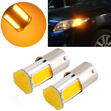 2pcs 12V 1156 4 COB LED Car Turn Signal Rear Light Lamp Bulb Amber Yellow Hot