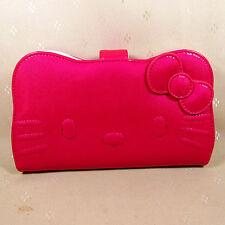 HelloKitty Zipper Wallet Purse 2017  New Cute Pu Bow Hot Pink  Long Size