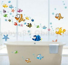 Color Fish Bubble Wall decals Removable stickers kids art nursery decor bathroom