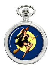 Witch's Delight Pin-up Girl Pocket Watch
