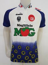 MAGLIA SHIRT CICLISMO BIANCHI MAGLIFICIO MG DIADORA CYCLING JERSEY ITALY MB333