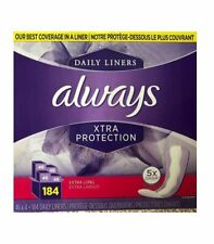 ALWAYS Daily Liners Xtra Protection 5X Drier Plus sec, Extra Long, 46 Count