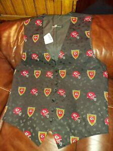 🏈 KANSAS CITY CHIEFS  NEW 1994 VINTAGE LORD WEST MENS or WOMENS VEST Med 40-41