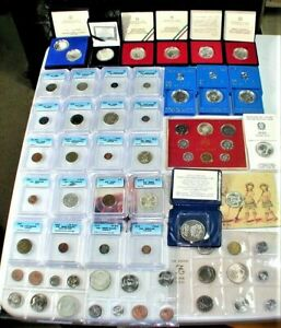 World Silver Commemorative Coins & Certified World Coins Lot as shown (WC#11)