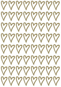 Small Heart Shaped Vinyl Wall Stickers, Decals, Craft Cardmaking Scrapbooking