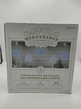 Wondershop Function Cool White & Blue Led Snowflake Lights NEW