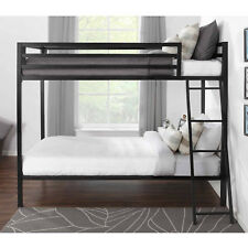 Mainstays Premium twin-over-full bunk bed, Black, New