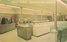 Vintage Postcard; Tenax Town Laundromat Dry Cleaning Arcadia Ca San Gabriel Vly