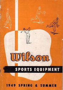 1949 Wilson Sports Equipment Catalog - Ted Williams baseballs; Tennis, Golf