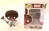Funko Pop Deadpool Bob Ross 319 Custom Flocked Vinyl Figure