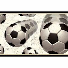 Soccer Balls In Motion Easy Walls Wallpaper Border BYR94253B