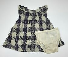 Baby Gap Dress w Diaper Cover Checked 12-18 Months NEW LBFO